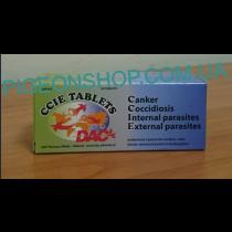DAC CCIE таблетки (трихомоноз, кокцидіоз, глисти, зовнішні паразити) 10 таблеток